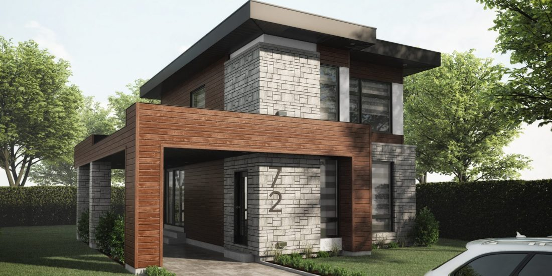 maison moderne, Habitations Jutras