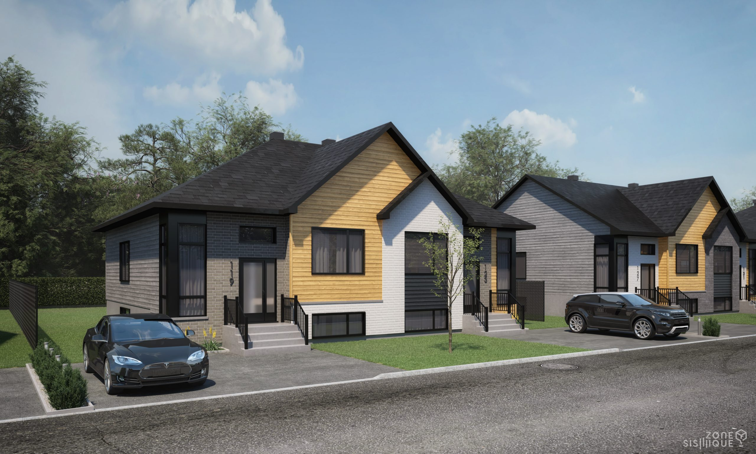 maison jumelée à vendre, Jumelé à vendre I 127-131 Rue Sémillon, Habitations Jutras